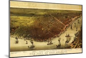New Orleans, Louisiana - Panoramic Map by Lantern Press