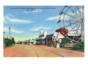 New Orleans, Louisiana - Pontchartrain Beach Amusement Park by Lantern Press