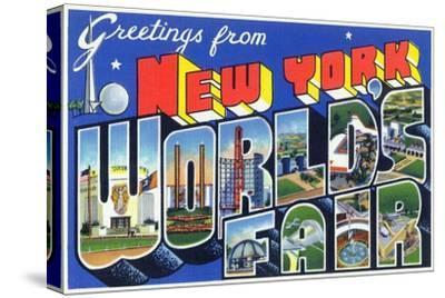 New York, New York - Large Letter Scenes, World's Fair