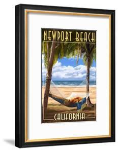 Newport Beach, California - Hammock and Palms by Lantern Press