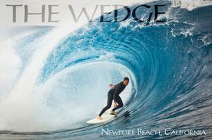 Newport Beach, California - Surfer in Perfect Wave by Lantern Press