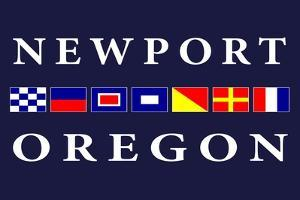 Newport, Oregon - Nautical Flags by Lantern Press