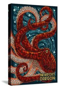 Newport, Oregon - Octopus Mosaic by Lantern Press
