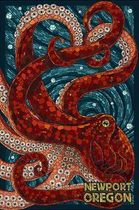Newport, Oregon - Octopus Mosaic by Lantern Press