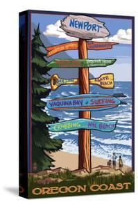 Newport, Oregon - Sign Destinations by Lantern Press