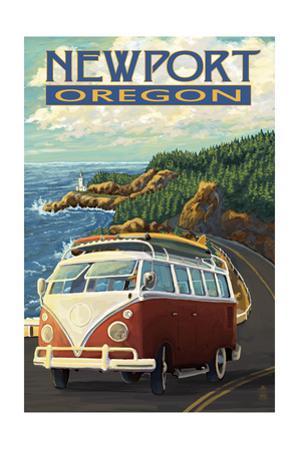 Newport, Oregon - VW Van Cruise