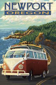Newport, Oregon - VW Van Cruise by Lantern Press