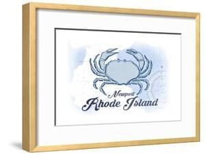 Newport, Rhode Island - Crab - Blue - Coastal Icon by Lantern Press