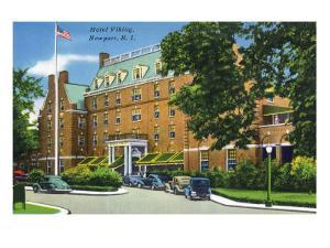 Newport, Rhode Island - Exterior View of the Hotel Viking, c.1935 by Lantern Press