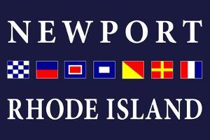 Newport, Rhode Island - Nautical Flags by Lantern Press