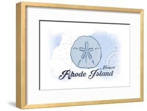 Newport, Rhode Island - Sand Dollar - Blue - Coastal Icon by Lantern Press