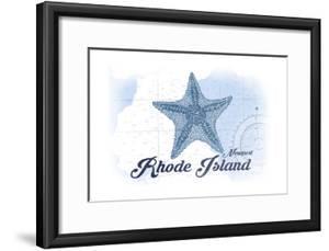Newport, Rhode Island - Starfish - Blue - Coastal Icon by Lantern Press