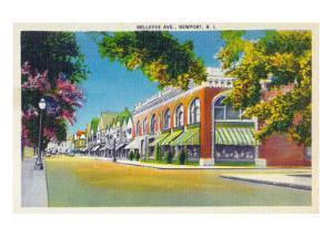 Newport, Rhode Island, View of Bellevue by Lantern Press