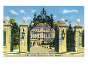 "Newport, Rhode Island - View of the Gateway to the ""Breakers,"" Vanderbilt Estate, c.1935 by Lantern Press"