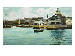 Newport, Rhode Island, View of the New York Yacht Club Station by Lantern Press