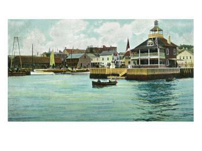 Newport, Rhode Island, View of the New York Yacht Club Station by Lantern Press