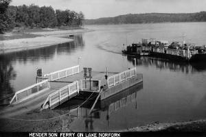 Norfork Lake, Arkansas - View of Henderson Ferry on Lake by Lantern Press