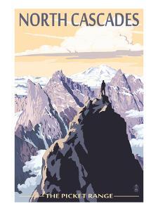North Cascades, Washington - Mountain Peaks by Lantern Press