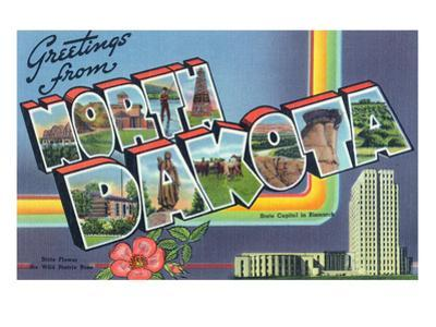 North Dakota - Large Letter Scenes