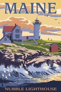 Nubble Lighthouse - York, Maine by Lantern Press
