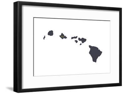 Oahu, Hawaii - Home State - Gray on White