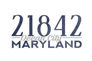 Ocean City, Maryland - 21842 Zip Code (Blue) by Lantern Press