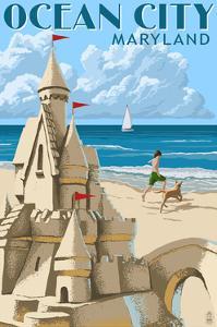 Ocean City, Maryland - Sand Castle by Lantern Press