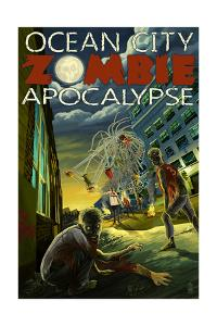 Ocean City, Maryland - Zombie Apocalypse by Lantern Press