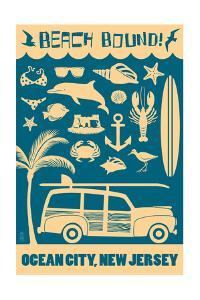 Ocean City, New Jersey - Coastal Icons by Lantern Press