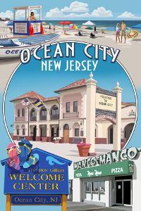 Ocean City, New Jersey - Montage by Lantern Press