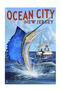 Ocean City, New Jersey - Sailfish Deep Sea Fishing by Lantern Press