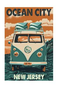 Ocean City, New Jersey - VW Van by Lantern Press