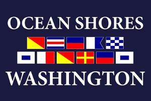 Ocean Shores, Washington - Nautical Flags by Lantern Press