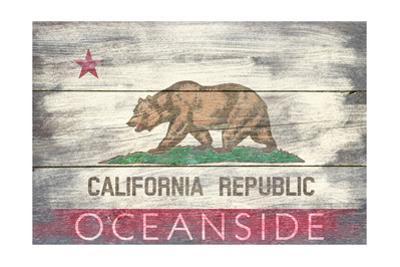 Oceanside, California - Barnwood State Flag