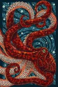 Octopus - Paper Mosaic by Lantern Press