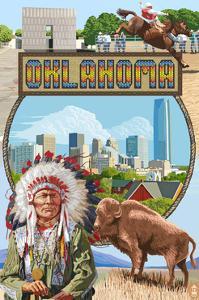 Oklahoma - Montage Scenes by Lantern Press