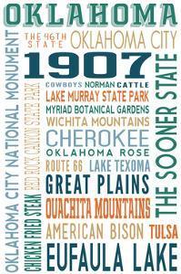 Oklahoma - Typography by Lantern Press