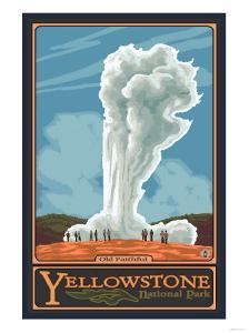 Old Faithful Geyser, Yellowstone National Park, Wyoming by Lantern Press