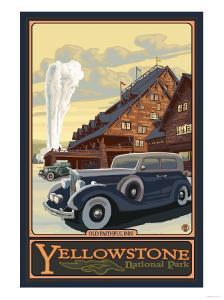 Old Faithful Inn, Yellowstone National Park, Wyoming by Lantern Press