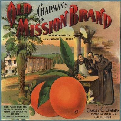 Covina Los Angeles Foothill Pansy Orange Citrus Fruit Crate Label Art Print