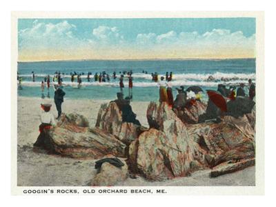 Old Orchard Beach, Maine - Googin's Rocks Scene