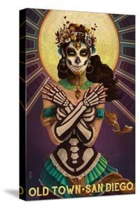 Old Town - San Diego, California - Day of the Dead Crossbones by Lantern Press