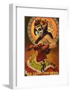 Old Town - San Diego, California - Day of the Dead by Lantern Press