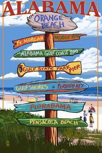 Orange Beach, Alabama - Sign Destinations by Lantern Press