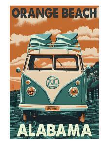 Orange Beach, Alabama - VW Van by Lantern Press