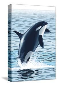 Orca Whale Jumping by Lantern Press