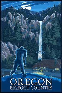 Oregon Bigfoot Country and Multnomah Falls by Lantern Press