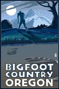 Oregon Bigfoot Country by Lantern Press