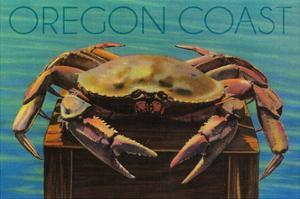 Oregon Coast - Dungeness Crab Vintage Postcard by Lantern Press