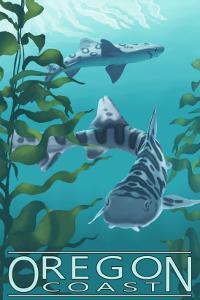 Oregon Coast - Leopard Shark by Lantern Press